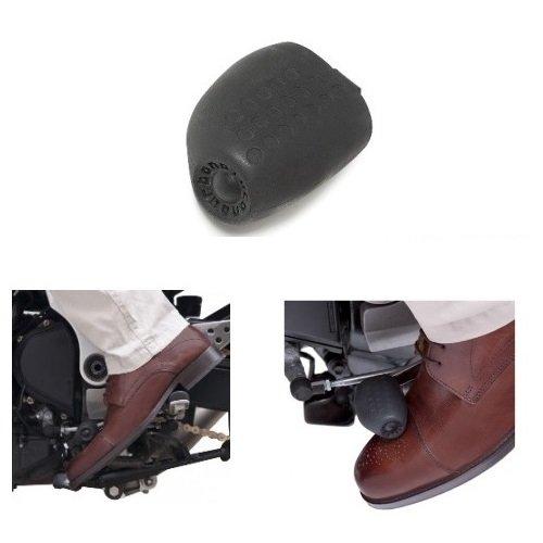 Protector de Calzado de Cambio de Moto Tucano Urbano New Foot On 312 Negro Universal para Todos los Modelos de Moto se Monta en Palanca de Cambio