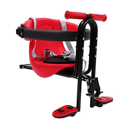Abaodam Bicicleta Asiento Niño Bicicleta Montaje Delantero Silla De Bebé Asiento De Seguridad Bebé Suministros