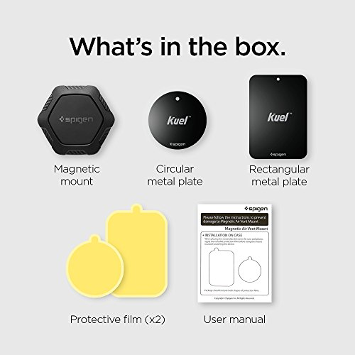 Spigen QS11 Quad Car Phone Mount Magnetic Air Vent Phone Holder | QNMP Compatible with Most Smartphones – Black