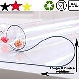 ToptanExport Tischschutz Folie Folienschutz Tischbedeckung Farblos Transparent Schutzmatte Tischdecke (150, 80)