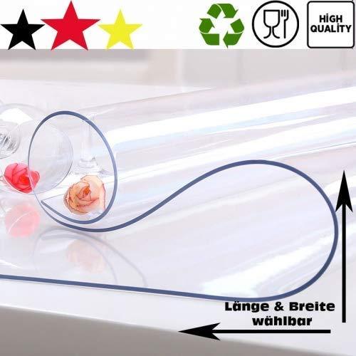ToptanExport Tischschutz Folie Folienschutz Tischbedeckung Farblos Transparent Schutzmatte Tischdecke (50, 80)