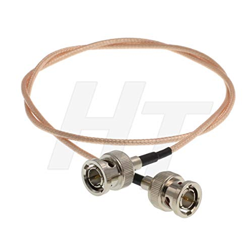 HangTon Camera Monitor Mannelijke BNC naar Mannelijke BNC 3G SDI 4K Video Kabel voor Blackmagic, Thin Shielded RG179 75 Ohm, 60cm/24inch