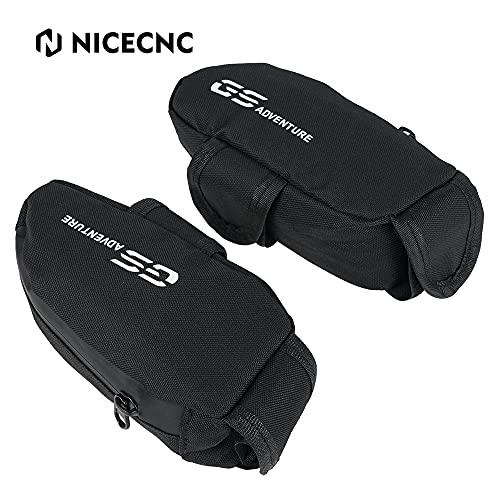 NICECNC 2Pcs Bolsa Almacenamiento Carenado Lateral, Bolsas de Carenado Impermeables Compatible con BMW R 1250 GS ADV 2018-2020, R1250 GS 18-20, R 1200 GS LC ADV 14-20, R 1200 GS LC 13-20