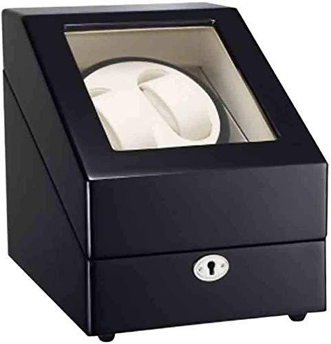WBJLG Caja enrolladora de Relojes Caja enrolladora automática de Relojes enrolladora automática de Relojes Relojes Dobles Madera 5 Modos de rotación Almacenamiento de Relojes Vitrina Caja Organiza