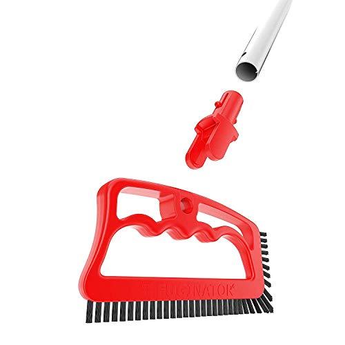 Fuginator® voegenborstel met schroefadapter en buissteel – innovatiefste borstel voor voegenreiniging in badkamer, keuken en huishouden, gepatenteerd