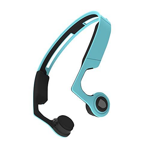 【Sale Now】 Ear Bone Conduction Headphones Bluetooth 4.2 with Mic, Sports Open-Ear Stereo Wireless Headset, Sweatproof Earphone for Running Driving Riding Fitness, Lightweight-Blue