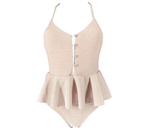 PINK INTIMO vrouwen een stuk badpak volant ruches zwemmen kostuum Tummy controle zwemkleding XS-L Italiaans ontworpen