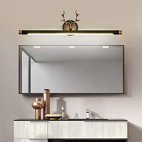 De enige goede kwaliteit Decoratie Alle Koper Amerikaanse Retro Antlers Led Spiegel Koplampen Badkamer wastafel Lampen Zwart Goud Woonkamer Slaapkamer Wandlamp 57x17cm