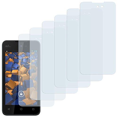 mumbi Schutzfolie kompatibel mit Wiko Sunset 2 Folie klar, Bildschirmschutzfolie (6X)