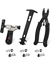 SlowTon Bicycle Chain Repair Tool Kit, Cycling Bike Master Link Pliers Remover & Chain Breaker Splitter Cutter & Chain Wear Indicator Checker & Reusable Missing Connector for 6/7/8/9/10 Speed Chain