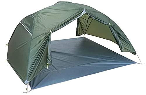 Ankon Portátil Camping Camping Tienda Super Luz Recubierta Recubierto Silicon Camping Doble Layer Descubry 3 Prueba de Lluvia Tienda Alpina Construcción para Pesca Mochilero