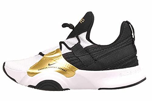 Nike Superrep Groove, Zapatillas para Correr Mujer, White Black Mtlc Gold Coin Bla, 42 EU