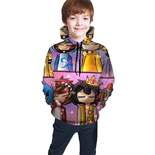 Sudaderas con Capucha Mikec-Rack Unisex Hoodies 3D Print Pullover Hooded Youth Sweater Sweatshirts with Pocket for Boy Girl Kid