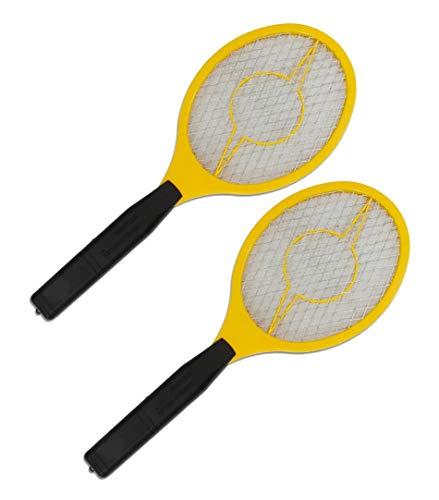 Trango 2er Juego de swatter eléctrico 2TG-FL2004 Cazador de Mosquitos I Cazador de Moscas de la Fruta I Papel de Cola I Operación de arañas con 2X AA batería de 1.5 voltios