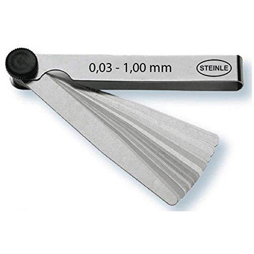 STEINLE 4101 Fühlerlehre im Satz 32 Blatt 0,03-1,00 mm