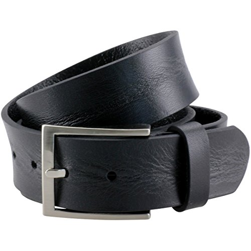 LINDENMANN Ledergürtel Herren/Gürtel Herren, Vollrindleder strukturiert, schwarz, Farbe/Color:schwarz, Größe/Size:120