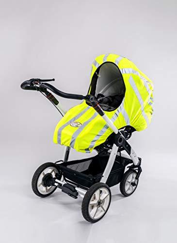 SEE-MY-BABY reflektierender Bezug, Kinderwagenschutz, Reflektor, Sicherheit, Geschenk, Verkehrssicherheit, Sichtbarkeit, Warnweste für Kinderwagen