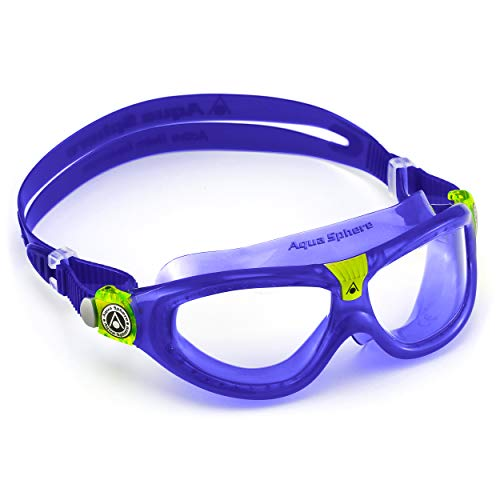 Aqua Sphere Unisex-Youth Seal Kid 2 Schwimmmaske, Klare Gläser - Violett, Einheitsgröße