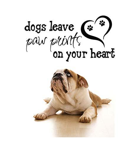 Homemay PVC Muurstickers Engels liefdevolle huisdier winkel hond poot afdrukken achtergrond ingericht en ingericht en milieubescherming kan worden verwijderdWallpaper109.2cm x55.9cm 109.2cm x55.9cm ORANJE