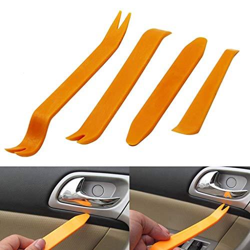 AURELIO TECH 4pcs Auto Car Radio Door Clip Panel Trim Dash Audio Removal Installer Pry Tool