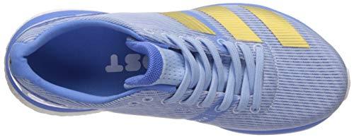 adidas Women's Adizero Boston 8 Running Shoe, Glow Blue/Gold Metallic/Real Blue, 8 M US