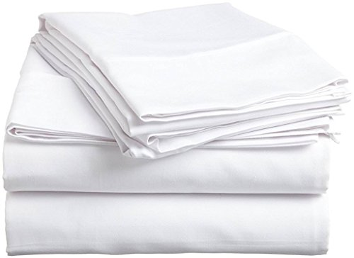 """Xtream Fabric 4 Piece Bed Sheet Set - Full XL Size Colling Sheets - 800 Thread Count 100% Rayon from Bamboo Cotton Sheet Set,Ultra Soft Luxury Sheets fits Upto 24"""" deep Pocket Mattress White Solid"""