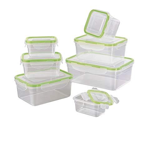 GOURMETmaxx Frischhaltedosen klick-it 7er Set | Spülmaschinen- Mikrowellen- und Gefrierschrankgeeignet | Deckel BPA-frei mit 4-Fach-klick-Verschluss | Ineinander stapelbar [4 Größen, transparent]