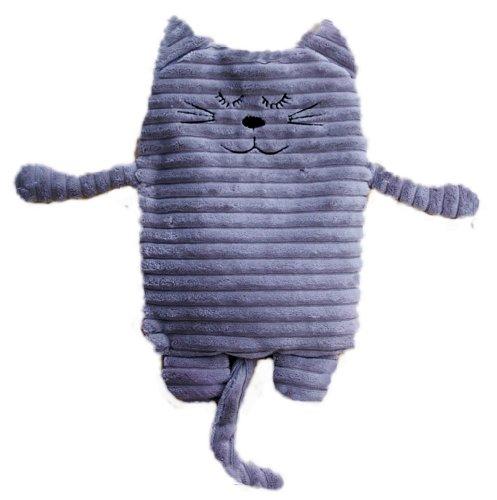 Inwolino 4038904087885 8788 - Wärmetier Katze, 17 x 26 cm, Wärmekissen, grau