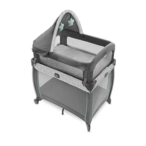 Graco My View 4 in 1 Bassinet | Infant to Toddler Bassinet with 4 Stages Derby