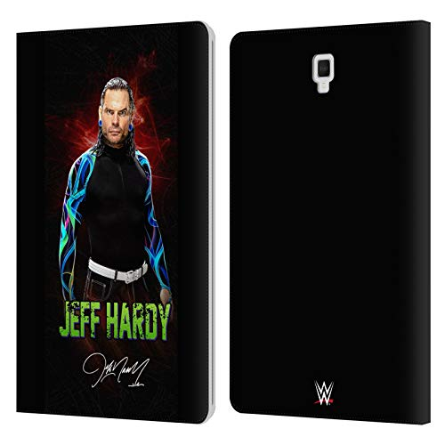 Official WWE LED Image 2 Jeff Hardy Leather Book Wallet Case Cover Compatible For Galaxy Tab S4 10.5 (2018)