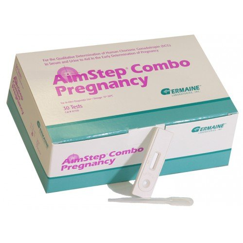 New Germaine Laboratories AimStep Pregnancy HCG Combo Cassette, 97730, Box of 30
