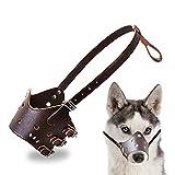 Jasonzhou Bozal para Mascotas, Bozal De Adiestramiento De Perros Suave, Cómodo, Seguro Y Anti-mordiscos Y Anti-gritos, con Correa Ajustable (S/M/L/XL)