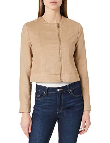 LTB Jeans Motito Chaqueta de Cuero sinttico, Beige 701, L para Mujer