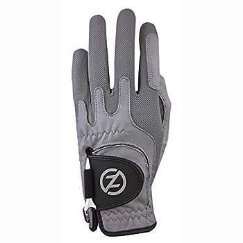 Zero Friction GL70009 Men s Cabretta Elite Golf Gloves Grey One Size Left Hand