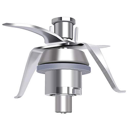 Poweka TM21 Cuchillas de Repuesto Vorwerk Thermomix TM21 Robot de Cocina en Acero Inoxidable con Junta