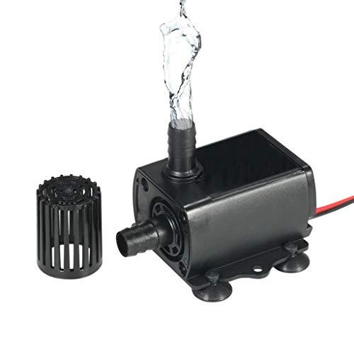 aiyvi Springbrunnen Brunnen Wasserpumpe Micro DC bürstenlose Wasserpumpe DC 12 V Mini Brushless Wasserpumpe Wasserkühlungspumpe Für Brunnen Pool Garten,IP68 wasserdichte,für Aquarien,Autokühlung