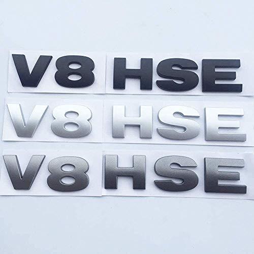 Logotipo de coche y de identidad para Usado para Land Rover Discovery 3 4 Freelander 2, letras del emblema V8 HSE Placa Car Styling cola del tronco etiqueta brillante Negro Gris Plata, Cartas de autom
