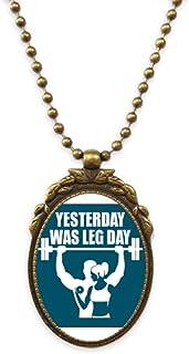 Memories Men Women Exercise Antique Necklace Vintage Bead Pendant Keychain