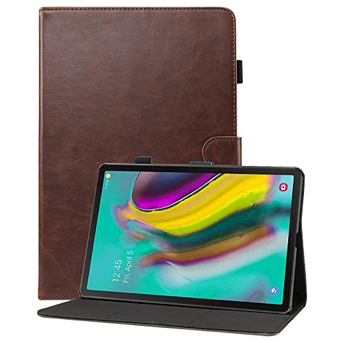 GHC PAD Cases & Covers For Samsung Galaxy Tab S5e 10.5 inch T720 T725, Protection TPU Back Case PU Leather Flip Stand Cover With Card Slot For Samsung Galaxy Tab S5e 10.5 inch (Color : Dark brown)