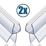 Butecare Premium 2 x 100 cm Duschtür und Duschkabinen Dichtung für 6mm, 7mm und 8mm Glasdicke - Verdickte PVC Dichtungen, Universal Wasserabweiser Gummilippe Duschdichtung