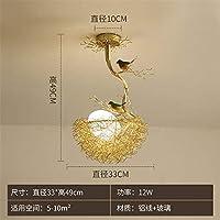 MZXUN 北欧モダンデザイン鳥の巣ガラスのシャンデリアのためにキッチンが照明器具を吊りルームLED照明器具キッズベッドルームダイニング (Lampshade Color : B)