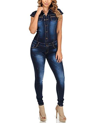 Nuevo Caliente Vaqueros de Mujeres Slim Rompers Bodysuit Pantalones Jeans Monos Pantalones Jumpsuits Para Fiestas de Cóctel,Mujer De Vestir Vaqueros Largos Verano Elegantes Sin Mangas Vaqueros