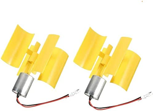 Sparik Enjoy 2 Pcs DC 0 1V 5 5V 100 6000RPM Micro Vertical Wind Turbines Small Motor Wind Blades product image