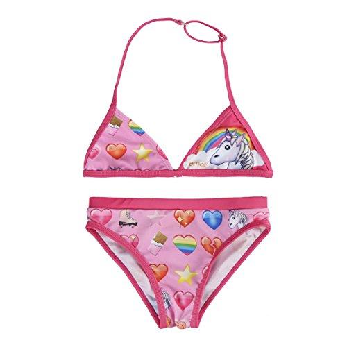 Emoji Mädchen S0706455 Bikini-Set, Rosa, 10