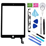 T Phael Black New Digitizer Repair Kit for iPad Air 2 9.7' 2nd Gen A1566 A1567 Touch Screen Digitizer Replacement(Without Home Button,Not Include LCD,ONLY Sell for Pro Repair Shop !!!).