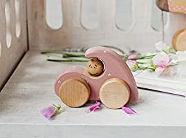 Wooden Toy Car for Toddler Girl, Handmade Eco-friendly Wooden Toys