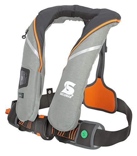 Automatische reddingsvest Secumar Survival 220 Harness lichtgrijs/grijs/oranje