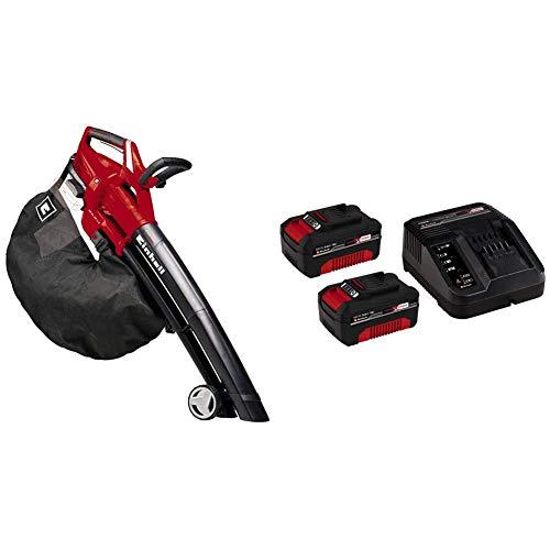 einhell GE-CL 36 Li E-Solo Soffiatore Aspiratore a Batteria, Rosso Nero + 2X 3,0 Ah Power X-Change Starter Kit