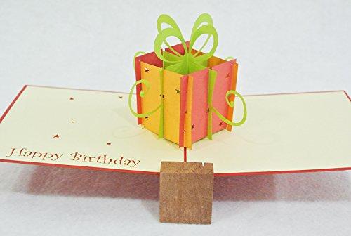 POPUP-CARD ドットコム 誕生日用グリーティングカード 立体ポップアップ 立体誕生日ボックス・ドリーム T-012