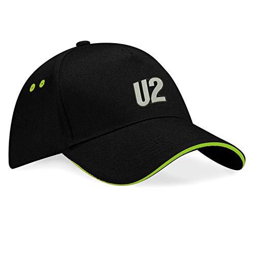 caprica91 U2 Rockband Bestickte Logo Baseball Cap Mütze — k166 — SW-Grün